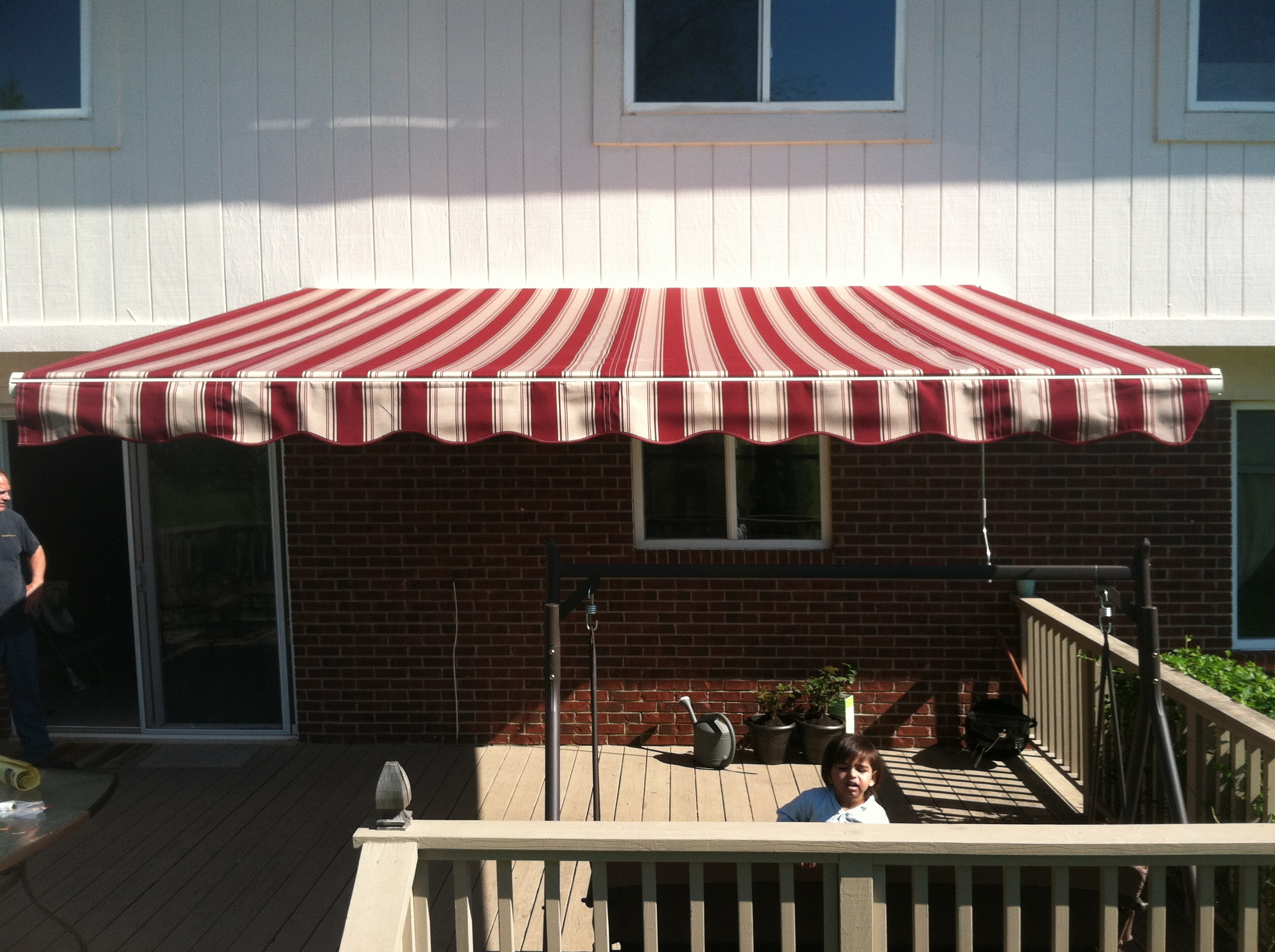 St. Clair Awning Red Brick Color